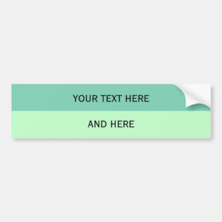 Custom your text, image & background color car bumper sticker