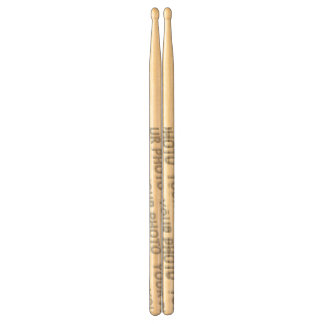 Custom your text, image & background color drumsticks