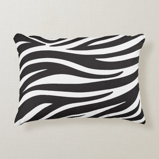 Custom Zebra Accent Pillow