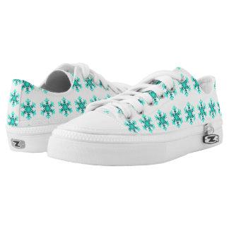Custom Zipz Low Top Shoes Snowflakes