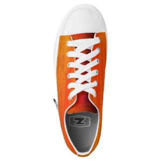 Custom Zipz Low Tops - Orange Crush