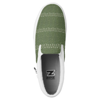 Custom Zipz Slip On Shoes, Dusty Olive