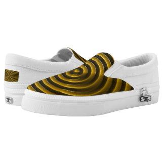 Custom Zipz Slip On Shoes, US Men 4 / US Women 6