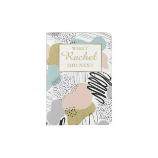 Custome Name Abstract Pastel Passport Holder