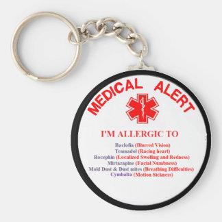 Customer 1 Drug Allergy Button Keychain
