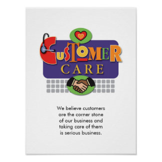 """""""Customer Care"""" Poster"""