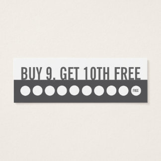 Customer loyalty business card (buy 9 get 1 ,free)