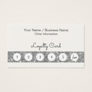 Customer Loyalty Punch Card With Glitter Bar