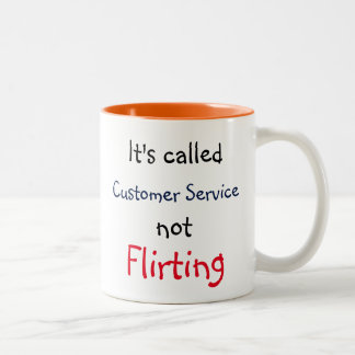 Customer Service Two-Tone Coffee Mug