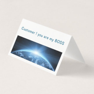customer, welcome business card