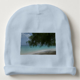 Customisable Barbados Beach Baby Beanie