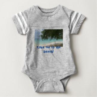 Customisable Barbados Beach Baby Bodysuit