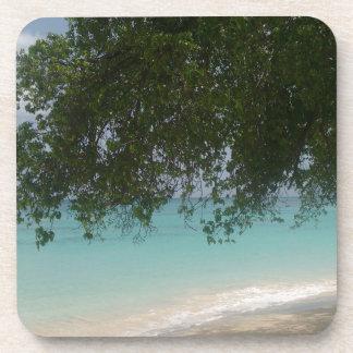 Customisable Barbados Beach Coaster
