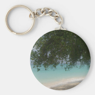 Customisable Barbados Beach Keychain