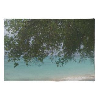 Customisable Barbados Beach Place Mats