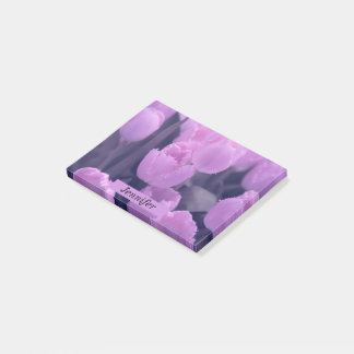 Customisable Beautiful Purple Tulip Back to School Post-it Notes