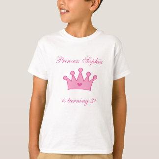 Customisable Birthday Princess t-Shirt