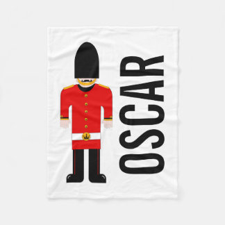 Customisable British Soldier Fleece Blanket