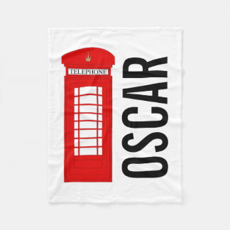 Customisable British Telephone Box Fleece Blanket