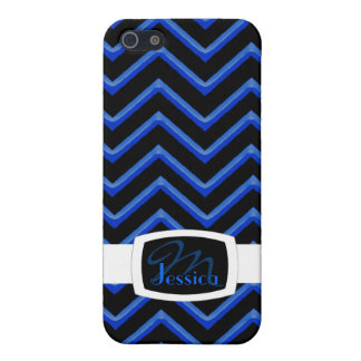 Customisable Chevron Neon/Blue Case For The iPhone 5