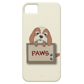 Customisable Cute Puppy Dog with Signboard iPhone 5 Case