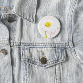 Customisable Daisy Flower Badge 2 Inch Round Button