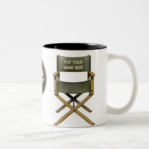 Customisable director's chair mug