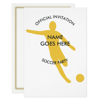Customisable Ice Soccer Party Invitation