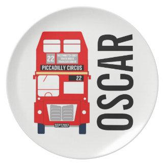 Customisable London Bus Melamine Plate