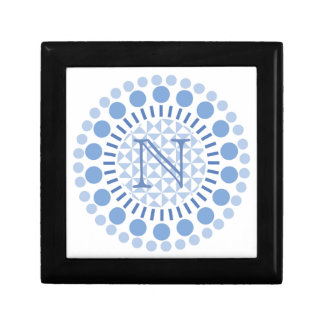 Customisable Monogram Blue Circle Box