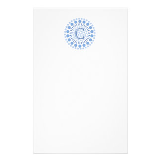 Customisable Monogram Blue Circles Letterhead