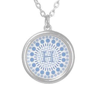 Customisable Monogram Blue Circles Necklace