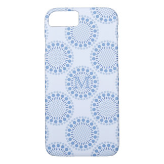 Customisable Monogram Blue iPhone 7/8 Case