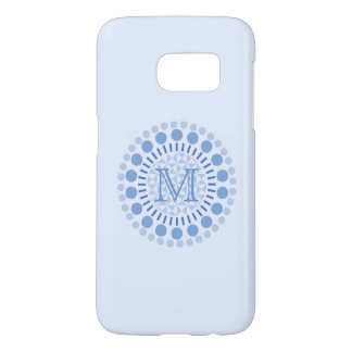 Customisable Monogram Blue Samsung Galaxy S7 Case