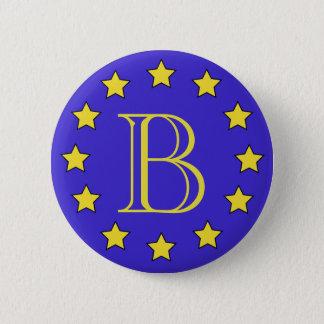 Customisable Monogram Brexit Badge 2 Inch Round Button