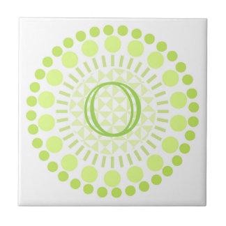 Customisable Monogram Circles Ceramic Tile