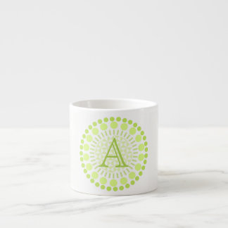 Customisable Monogram Circles Espresso Cup