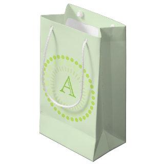 Customisable Monogram Circles Gift Bag