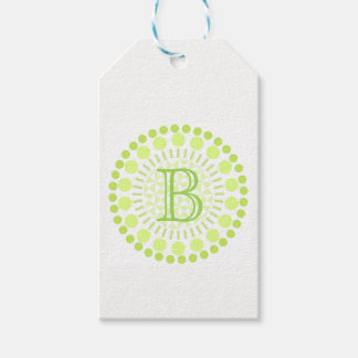 Customisable Monogram Circles Gift Tag