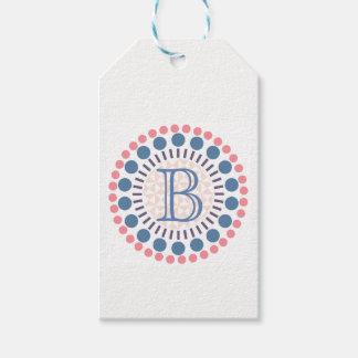 Customisable Monogram Circles Gift Tag