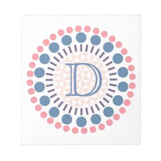 Customisable Monogram Circles Notepad