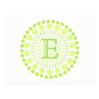 Customisable Monogram Circles Postcard