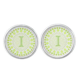 Customisable Monogram Circles Round Cufflinks