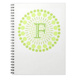 Customisable Monogram Circles Spiral Notebook