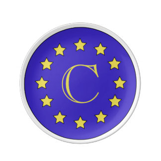 Customisable Monogram EU/Brexit Plate
