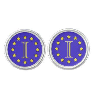 Customisable Monogram EU/Brexit Round Cufflinks