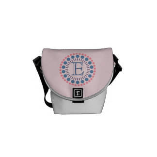 Customisable Monogram Pink Mini-Messenger Bag Messenger Bags