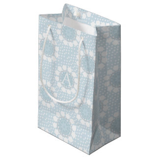 Customisable Monogram Polka Dot/Circles Gift Bag