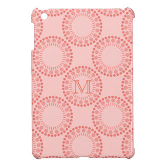 Customisable Monogram Red Circles IPad Case