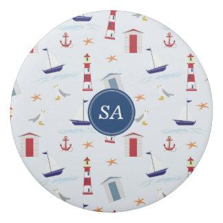 Customisable Monogrammed Nautical Back to School Eraser